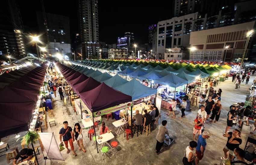 مراکز خرید بانکوک - بازار شبانه نئون